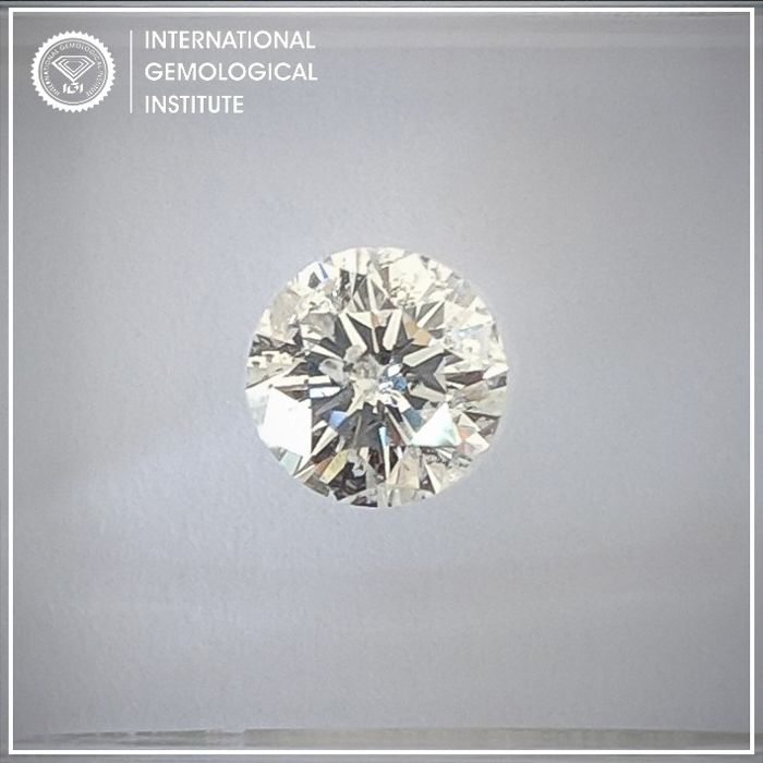Diamant - 0.70 ct - Rond - F - P2