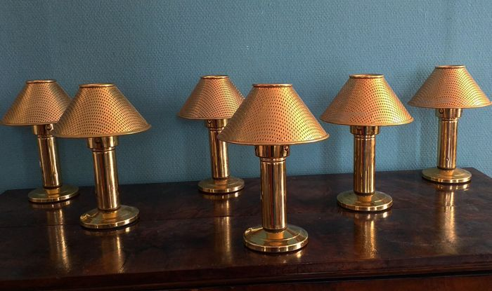 Six Tea Light Candle Holder Table Lamps Art Deco Style Catawiki