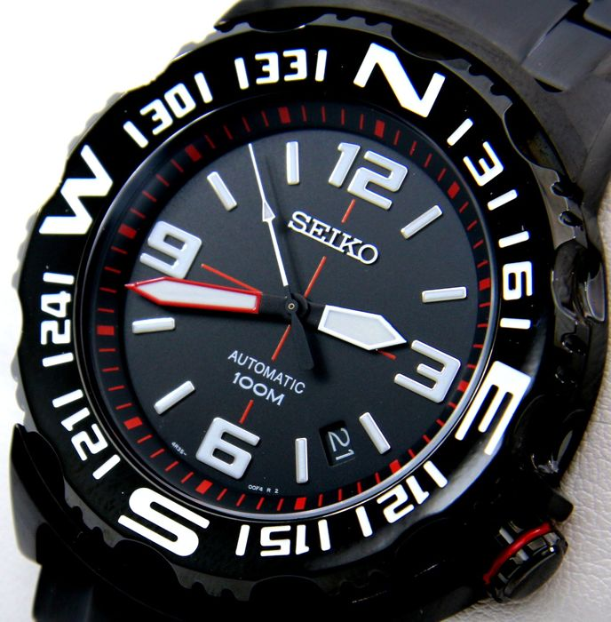 "Seiko - Automatic 23 Jewels ""Superior"" ""All Black - White"" - ""NO RESERVE PRICE"" - Heren - 2011-heden"