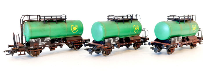Roco H0 - 51290 - Freight carriage - Three BP tankers - DB