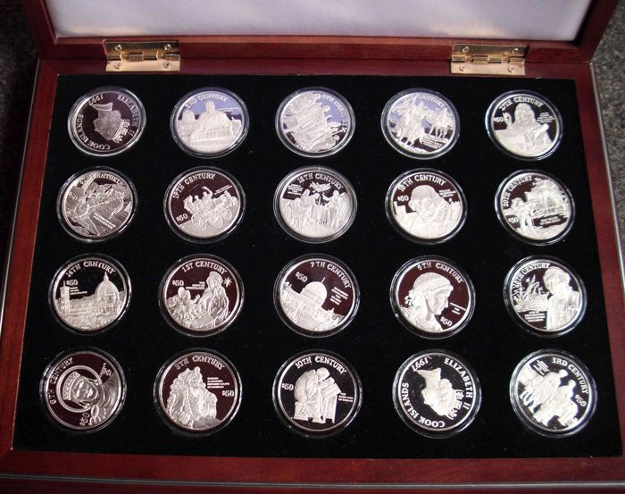 Cook Islands - 50 Dollars 1997 'The Millenia silver coin collection (20 pieces) in set   - Silver