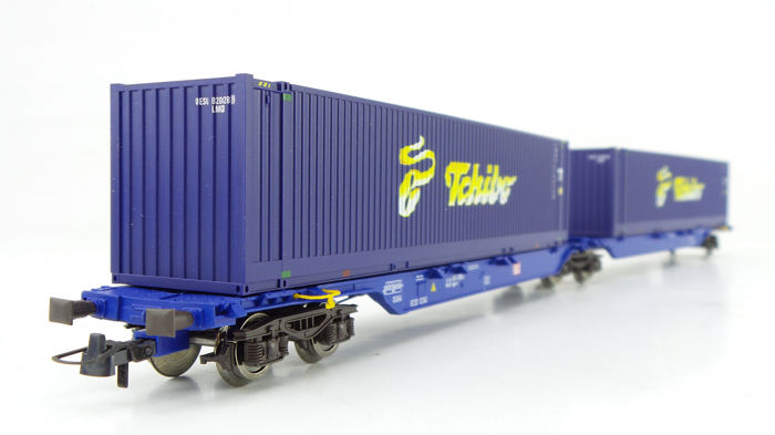 Roco H0 - 66598 - Freight carriage - Double container truck type Sggmrs 'Tchibo' - DB