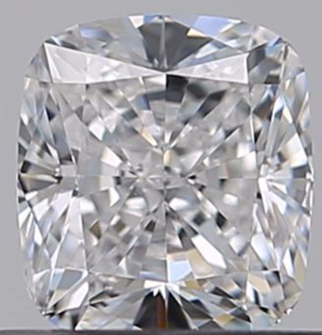 1 pcs Diamant - 0.51 ct - Cushion - D (kleurloos) - VVS1