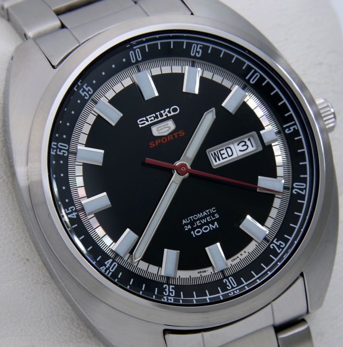 """Seiko - Automatic 24 Jewels 100M """"Black Dial"""" - """"NO RESERVE PRICE"""" - Heren - 2011-heden"""