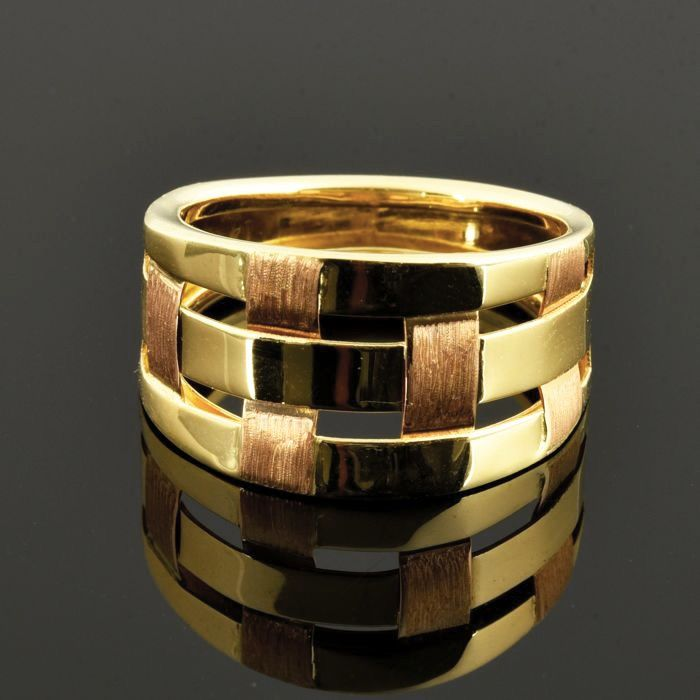 18 kt. Pink gold, Yellow gold - Ring