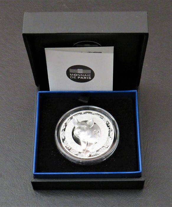 France - 20 Euro 2019 - Year of the Pig - Silver