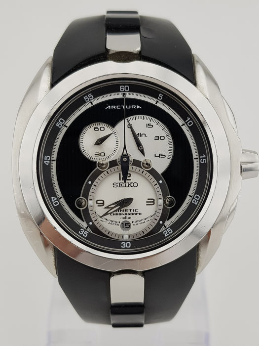 """Seiko - Arctura Panda Dial Kinetic Watch """"NO RESERVE PRICE"""" - Heren - 2011-heden"""