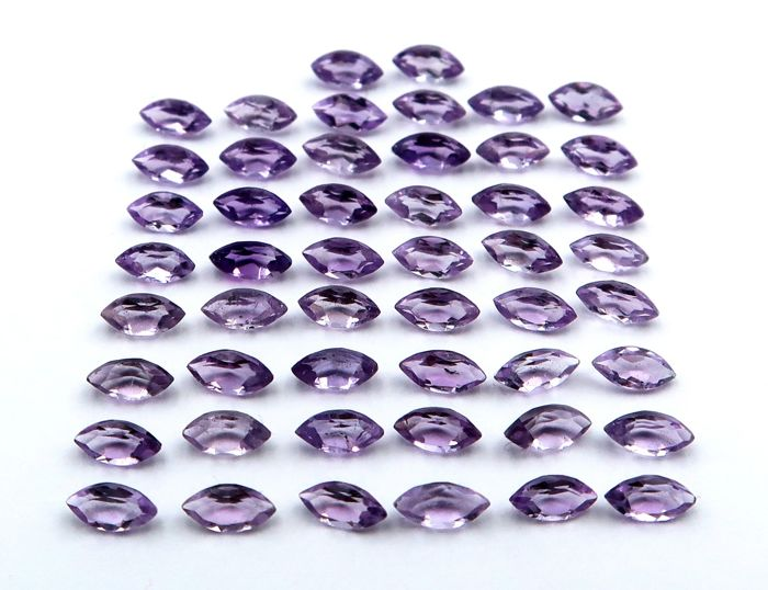 50 pcs  Amethyst - 7.00 ct