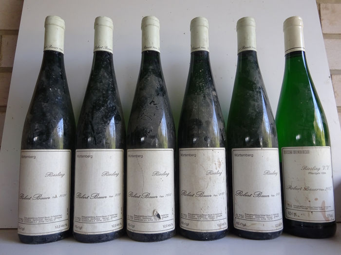 Mixed lot -  Riesling - Robert Bauer: 1x 2007 Riesling Alte Reben & 5x 2000 Riesling - 6 Bottles (0.75L)