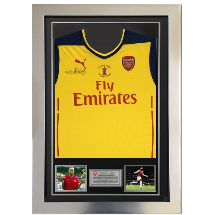 0022dd7a5 Signed & Framed Arsenal - Thierry Henry - Shirt - Catawiki