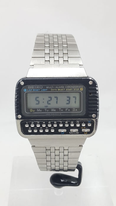 "Seiko - ""NO RESERVE PRICE"" Calculator Multi Alarm Chronograph  - C439 - Heren - 1980-1989"