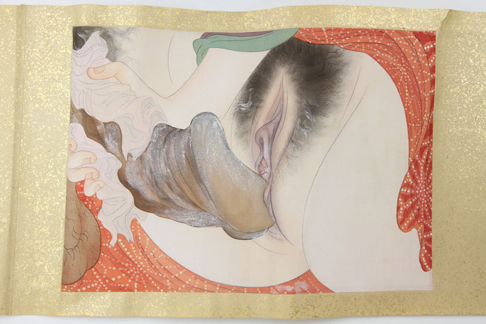 Rol, Shunga - Twelve paintings of sexual encounters - ca. 1900-10 (Late Meiji period)