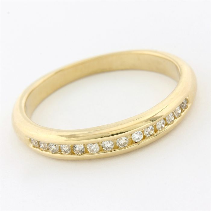 14 kt. Yellow gold - Ring - 0.20 ct Diamond