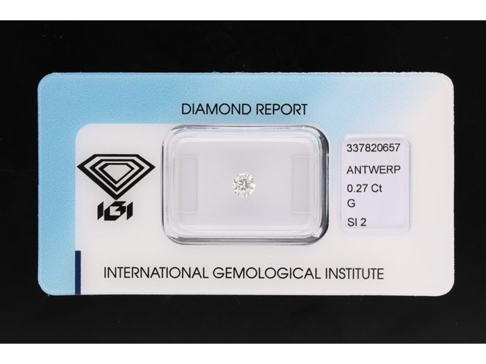 1 pcs Diamant - 0.27 ct - Old European Cut - G - SI2
