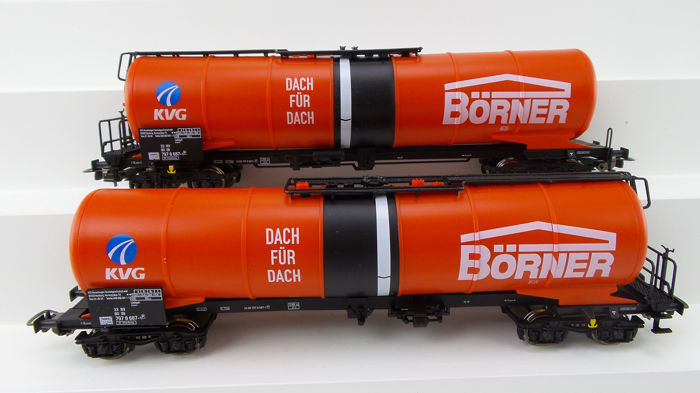 Piko H0 - 54190 - Freight carriage - 2 articulated wagons 'Börner' - DB