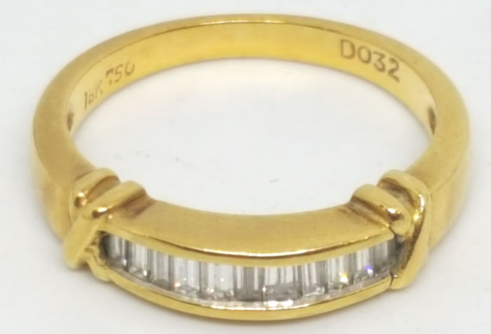 18 quilates Oro amarillo - Anillo - 0.32 ct Diamante