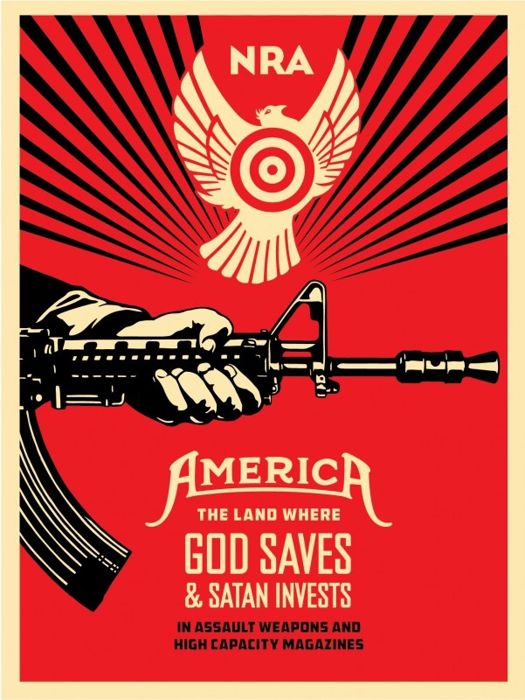 Shepard Fairey (OBEY) - God Saves & Satan Invests