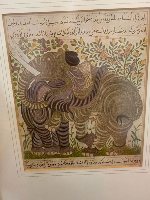 Lithograph, ''Two Elephants'' - Not signed - 1960's reprint