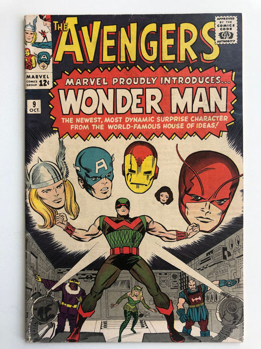 Avengers #9 - 1st Appearance & Partial Origin Of Wonder Man - Higher Grade! - Softcover - Eerste druk - (1964)