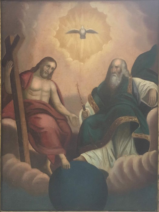 """Trinity"" (1) - oil on canvas - Late 18th century"
