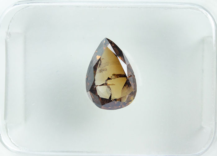 Diamant - 1.01 ct - Marron Fantaisie Naturel - I1  *NO RESERVE*