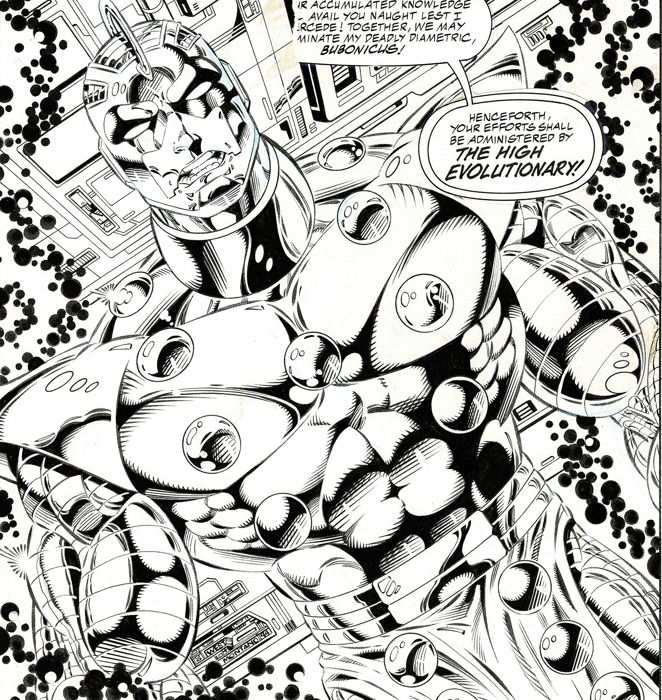 "Guardians of the Galaxy #57 page 22 - ""Splash High Evolutionary"" 11x17 - A3 - Loose page - First edition - (1995)"