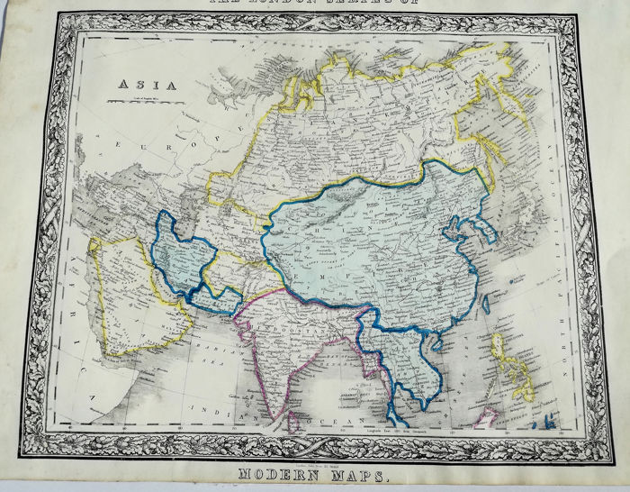 China, Asien, Europa; John Betts - The London Series of Modern Maps Asia - 1821-1850