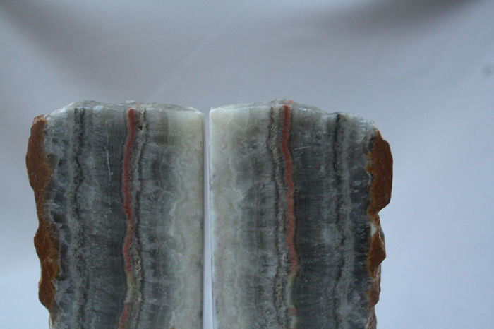 Solid Natural Stone Bookends - Very Old