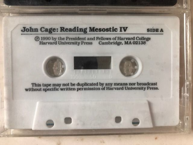 John Cage - I-IV: (The Charles Eliot Norton Lectures, 1988