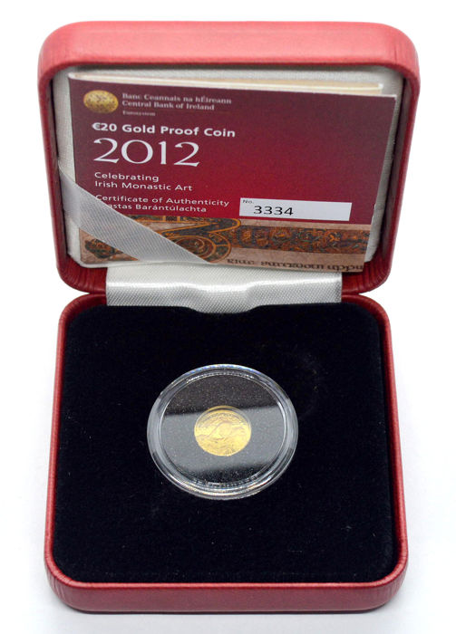 Ireland - 20 Euro 2012 The Book of Kells - Gold