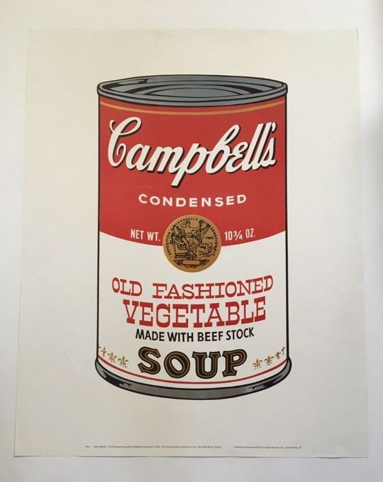 Andy Warhol - Campbells Old Fashioned Vegetable Soup