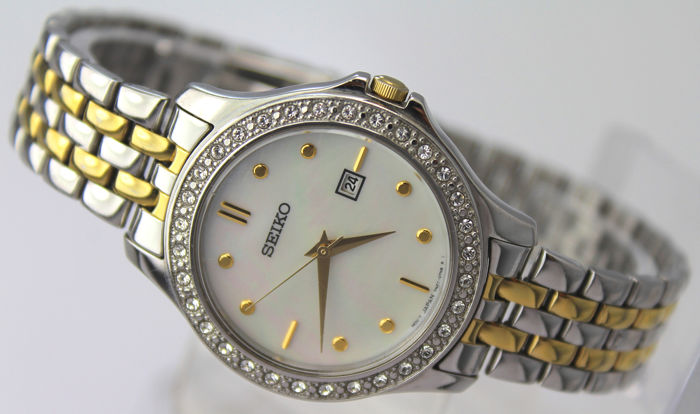 Seiko - 'NO RESERVE PRICE'  - Crystals Mother Of Pearl Dial - Dames - 2011-heden