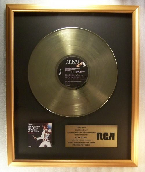 Elvis Presley - From Elvis Presley Boulevard Memphis Tennessee Official In-House LP Gold Record Award - Official In-House award - 1968/1999
