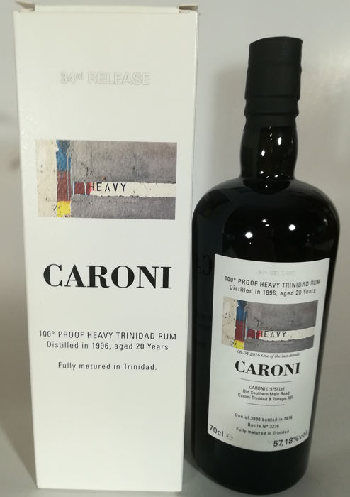 Caroni 1996 20 years old Velier - Heavy Proof 34th Release - b. 2016 - 70cl