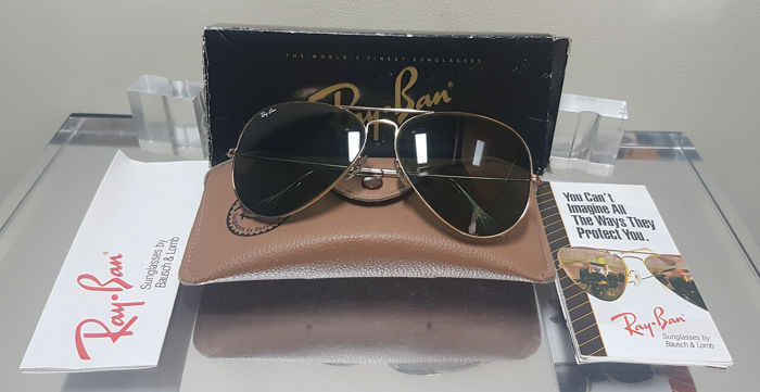 9fd209bf37 Bausch and Lomb Ray Ban Usa - Aviator Classic Metal Arista - G15 - L2846  Sunglasses