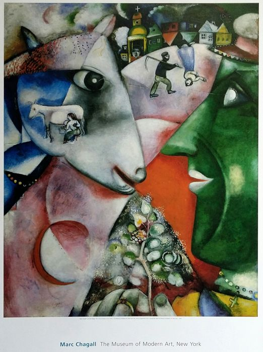 "Marc Chagall - ""I and the village"" - Museum of Modern Art of New York - 1989"