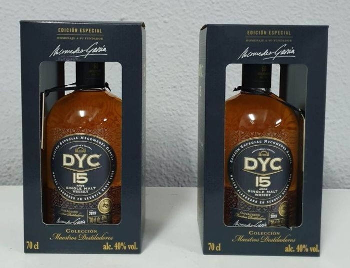 DYC 15 years old Single Malt Special Edition 60th Anniversary  - b. 2019 - 70cl - 2 flessen