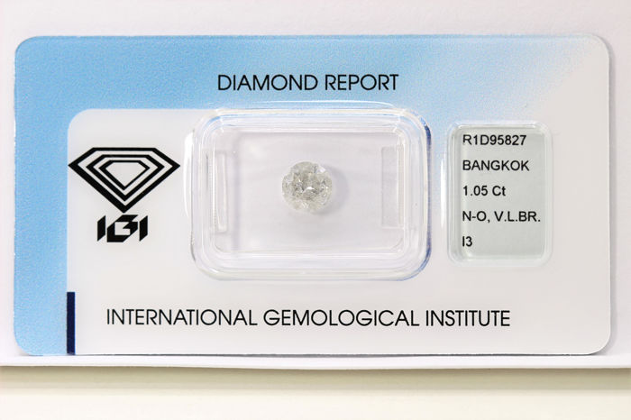 Diamond - 1.05 ct - Brilliant - P3 - IGI Certificate