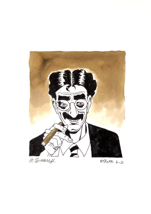 Dylan Dog - Groucho - original illustr. -20x30 cm - Loose page - First edition