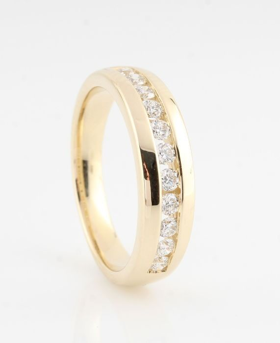 14 kt. Yellow gold - Ring - 0.50 ct Diamond