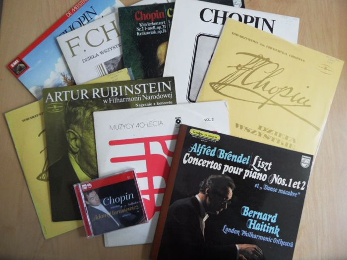 Great classical albums from Chopin, Liszt - Multiple artists - Multiple titles - CD, LP's - 1960/2010