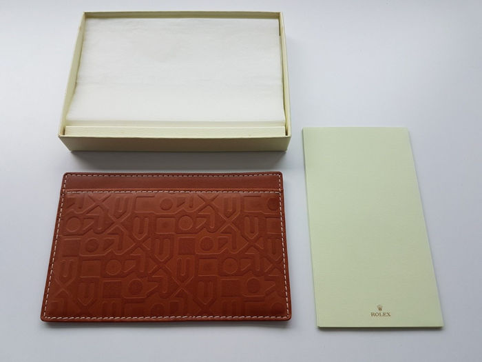 Rolex - Brown Leather notelet  - Unisex - 2018