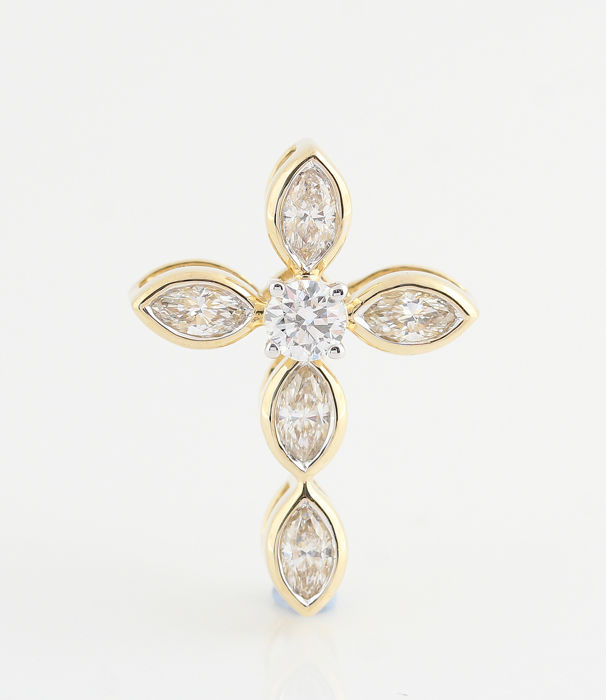 14 kt. Yellow gold - Pendant - 0.45 ct Diamond