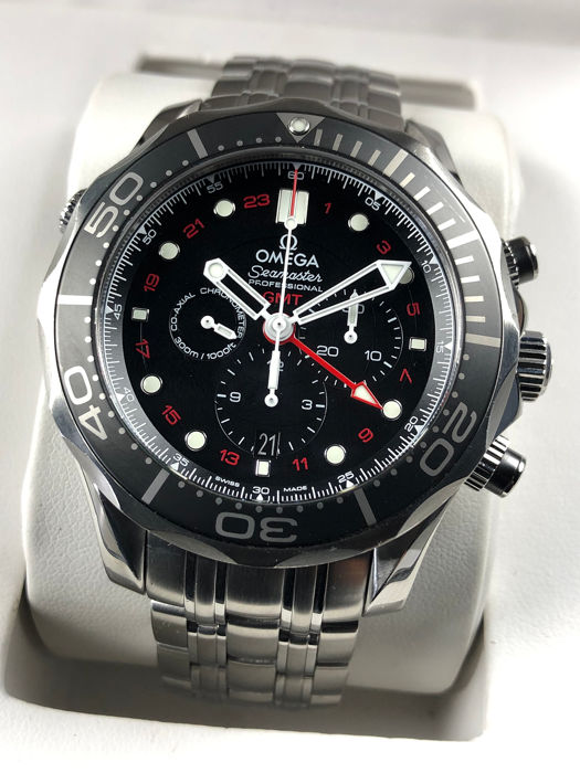 Omega - Seamaster Diver 300m Co-Axial Chronograph GMT Automatic - 212.30.44.52.01.001 - Herren - 2011-heute