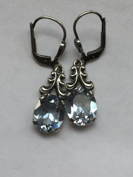 835 Silver - Earrings - 2.00 ct Spinel