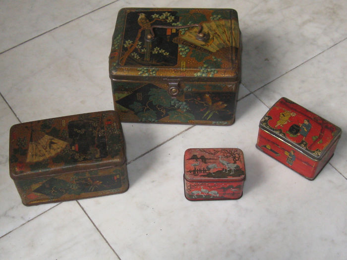 Chinees-Japans - Oosters - Collection, Tea caddy (4) - Edwardian - Look