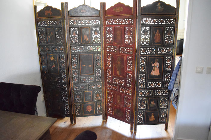 Colonial Room Screen - tropical hardwood (sort unknown to me.) - India - First half 20th century