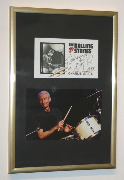 Charlie Watts & Related, Rolling Stones - Picture, Signed memorabilia (original authograph) - 2019/1962
