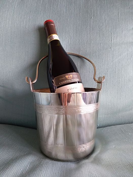 Ice or wine bucket  - .800 silver - FRATELLI CACCHIONE  - Italy - mid 20th century