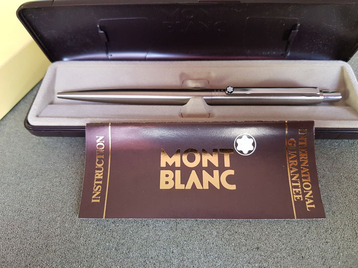 Montblanc - Noblesse ballpoint pen - Stainless steel - New in the original box with manual